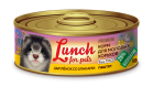 Lunch for pets корм для молодых хорьков ЦЫПЛЕНОК СО ЗЛАКАМИ паштет 100гр - ЗооУрал